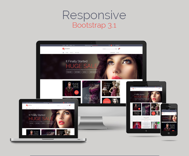 Queen - Responsive E-Commerce Template v 1.3