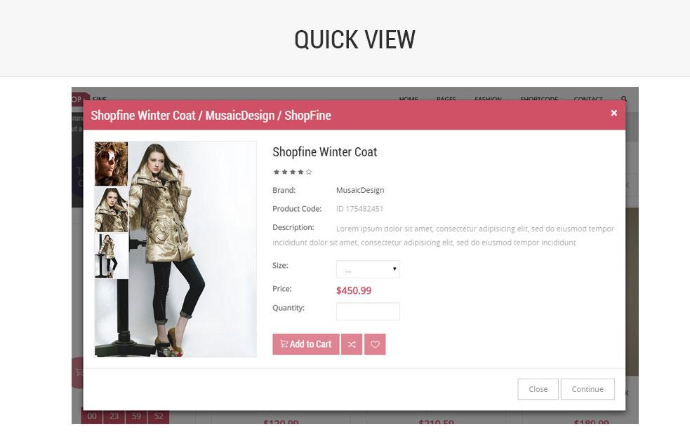 Shopfine - Responsive E-Commerce Template