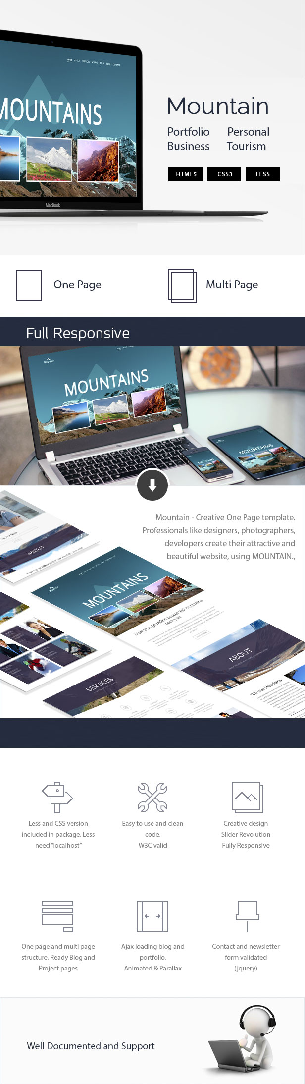 Mountain - Creative OnePage & MultiPage Template